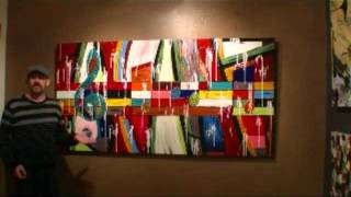 getlinkyoutube.com-CREATING LARGE ABSTRACT ARTWORK Learn to paint acrylic artworks 20 art lessons demo