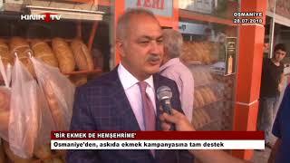 Osmaniye'den, askıda ekmek kampanyasına tam destek