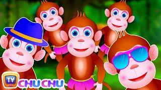 getlinkyoutube.com-Five Little Monkeys Jumping On The Bed | Part 3 - The Smart Monkeys | ChuChu TV Kids Songs