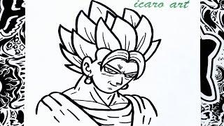 como dibujar a vegetto | how to draw vegetto