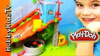 getlinkyoutube.com-Trash Pack Sewer Dump PLAY DOH - Toy Review, PlaySet - Batman, Cars, Angry Birds, Star Wars