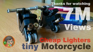 getlinkyoutube.com-How to make Cheap Lighters into a tiny Motorcycle