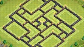 Clash Of Clans | TH 10 Farming Base (Dark Elixir Base) - 275 walls