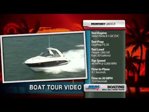 Monterey Boats 280SCR Boating Magazine Walk Through .mov montereyboats 115 ...