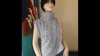 getlinkyoutube.com-Crochet Calentador o Chalina Inspirado Por Katniss