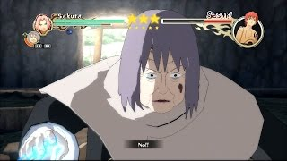 getlinkyoutube.com-Naruto Shippuden: Ultimate Ninja Storm 2 - Sakura & Chiyo vs Sasori Boss Battle [PS3]