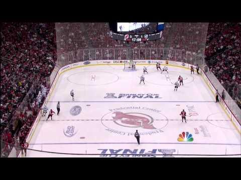 Ryan Carter Deflection Goal 6/2/12 Devils vs Kings - Stanley Cup Finals