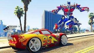 getlinkyoutube.com-Grand Theft Auto V - Lightning Mcqueen Customization - GTAV Mods Gameplay