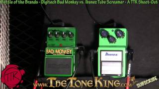 getlinkyoutube.com-Bad Monkey vs Tube Screamer TS9 Shoot-Out - Digitech vs Ibanez - 30 Pedals Day #27 NAMM 2011 11 TS-9