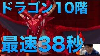 【サマナーズウォー】ドラゴン10階 38秒出ましたのでpt紹介
