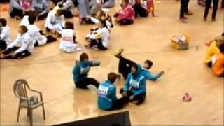 getlinkyoutube.com-120108 [FANCAM] BEAST American dance + Apink win in MBC Idol Star Athletics Championships