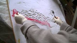 getlinkyoutube.com-Acrylmalerei 1 Abstract acrylic Painting 1 Spachtelmasse Modelling paste