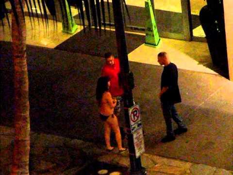 A drunk girl walking waikiki ;p