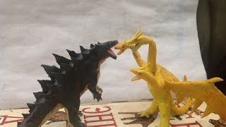 getlinkyoutube.com-Godzilla vs King Ghidorah claymation (read description)