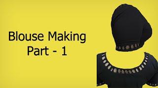 getlinkyoutube.com-Simple Designer Blouse: 1  Marking & Cutting (English Subtitle)