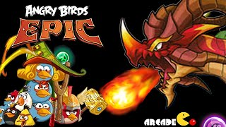 getlinkyoutube.com-Angry Birds Epic: Angry Birds Vs RED BOSS Dragon Puzzle & Dragon Crossover