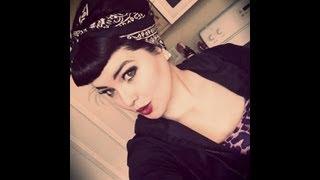 getlinkyoutube.com-Rockabilly/Pin Up Look:Bettie Bangs and Bouffant Style With Bandana