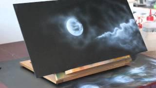 getlinkyoutube.com-Airbrush Speedpainting Videoanleitung Tutorial - Space Weltraum All Planeten Sterne Schablone