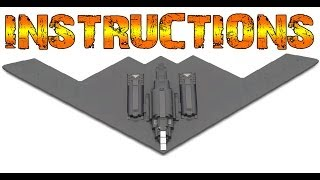 getlinkyoutube.com-HOW TO BUILD  a Lego B2 SPIRIT Stealth Bomber