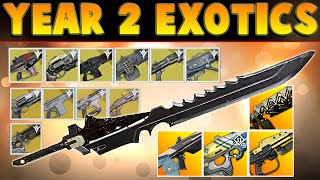 getlinkyoutube.com-Destiny YEAR 2 - ALL EXOTIC WEAPONS - The Taken King Gameplay