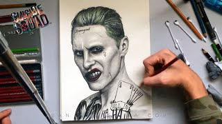 getlinkyoutube.com-♠️ THE JOKER 🎭 Suicide Squad ☠ Speed Drawing 🎨