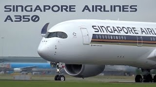 getlinkyoutube.com-Singapore Airlines A350 Departure from Amsterdam Schiphol Airport