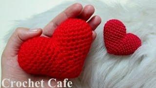 getlinkyoutube.com-كروشيه قلب مجسم \ ثلاثى الأبعاد | #كروشيه كافيه#