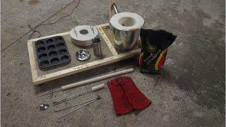 getlinkyoutube.com-How To Make a Mini Metal Melting Foundry