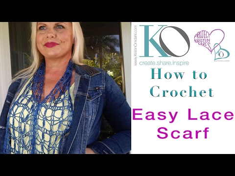 Easy Crochet Lace Scarf Be So Fine TIDBITS