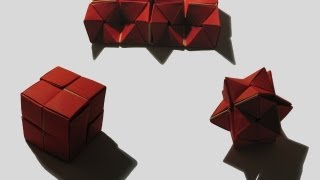 "getlinkyoutube.com-Origami ""Double Star Flexicube"" by David Brill (Part 1 of 3)"