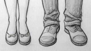 getlinkyoutube.com-How to Draw Feet/Shoes: Front View, Male & Female