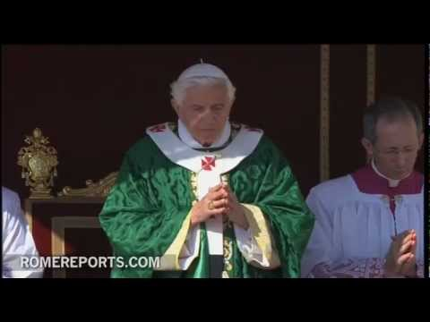 Benedict XVI inaugarates in St  Peter's Square the Year of Faith