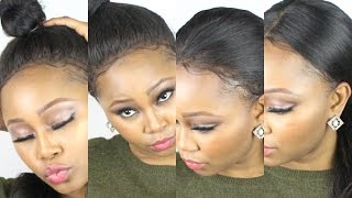 getlinkyoutube.com-Chrissy Bales: How to Style a Lace Frontal 14+ Hairstyles. NO GLUE! NO SEW! detailed!