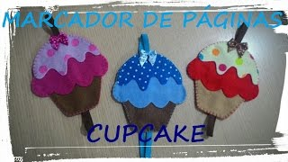 getlinkyoutube.com-Marcador de Página em Feltro - Cupcake - DIY