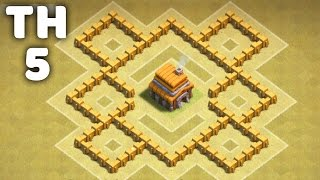 getlinkyoutube.com-Town Hall 5 Awesome War Base ⏺Clash of Clans (CoC TH5)