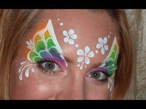 Rainbow Fairy Face Painting Tutorial