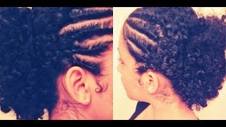 "getlinkyoutube.com-Super Easy ""Retro"" Flat Twists w/ Curly Updo 