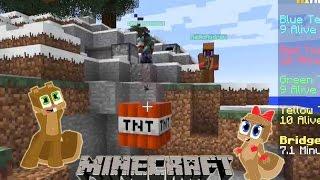 Squirrrel and Squirrrelette Play THE BRIDGES on Mineplex - Minecraft