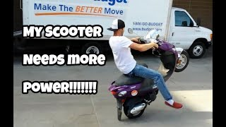getlinkyoutube.com-Buddy scooter 161cc stage one kit wheelie scooter