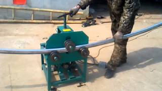 getlinkyoutube.com-Rolling Pipe Bending Machine