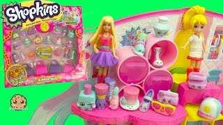 getlinkyoutube.com-Barbie and Polly Meet Glamour Squad Glitter Shopkins 20 Pack with 2 Exclusives Blind Bags