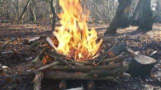 getlinkyoutube.com-Wet Weather Fire-Making - HowTo