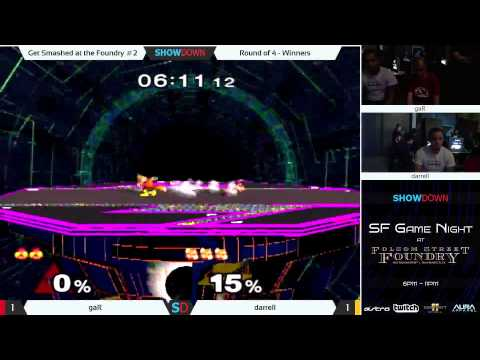 Get Smashed at the Foundry #2 Ro4 (W) gaR (Sheik) vs darrell (Fox)