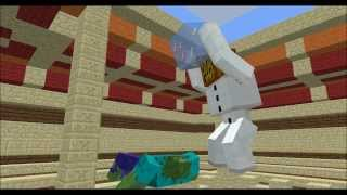 getlinkyoutube.com-Mob Battles - Mutant Zombie vs Mutant Snow Golem - Minecraft Animation