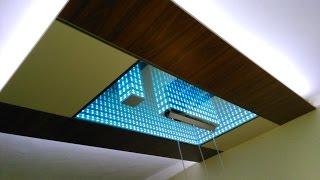 getlinkyoutube.com-LED Infinity Mirror Ceiling