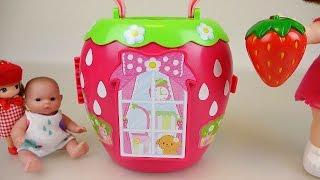 getlinkyoutube.com-Baby Doll Strawberry house toy