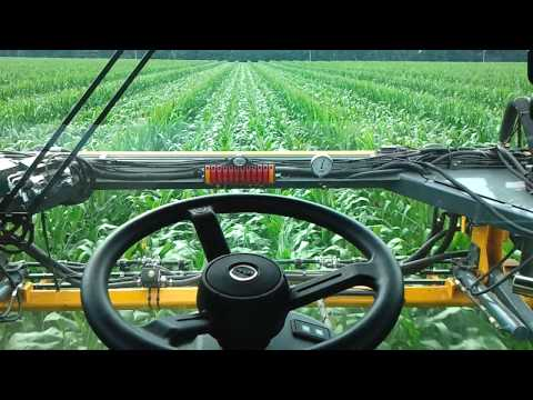 Spraying Fungicide on Seed Corn in Field 27