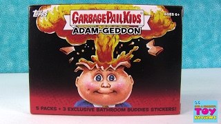 Topps Garbage Pail Kids Collectible Stickers Trading Cards Pack Opening | PSToyReviews