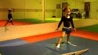 4 year old doing a back handspring