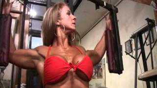 getlinkyoutube.com-Very strong sexy busty woman amazing gym workout